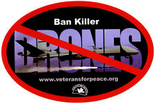 Ban Killer Drones - Bumper Sticker / Decal