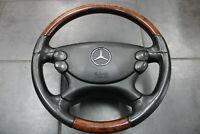 Mercedes SL Lenkrad R230 Airbag Multifunktionslenkrad SL500 Leder Schwarz Holz
