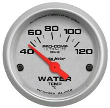 Auto Meter 4337-M 52mm Water Temp Gauge Electric 40-120°C Short Sweep Needle