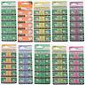 10Stk 1.5V Alkaline Knopfzelle Knopfbatterie Uhrenbatterie AG0-AG12 Auswahlbar