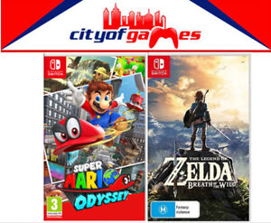 The Legend Of Zelda Breath Of The Wild & Super Mario Odyssey Switch New & Sealed