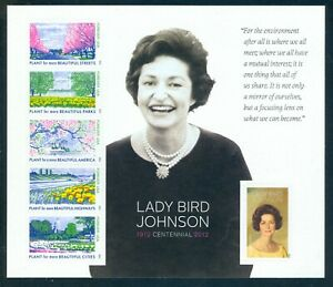 US 4716 Lady Bird Johnson, Beautiful Cities, Forever Sheet/6, Mint OG NH
