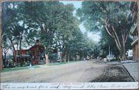 Potsdam, NY 1907 Postcard: Lower Elm Street - New York