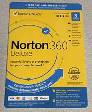 Norton 360 Deluxe 3 Devices 25GB PC Cloud Storage New 21389854 037648686884