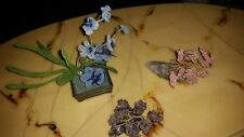 Antique/vtg Chinese hand wire wrapping tree lot rare hand beaded flowering tree