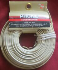 Phone Accessories model T536 4 Conductor Telephone extension wire 100ft White