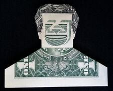 Dollar Origami Smiling Dude FACE Mini Portrait Man Bust Money Real $1 Bill Guy