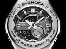 Casio G-Shock 200M Alarm World Time Stainless Steel Men's Watch GST210D-1A