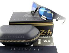 POLARIZED New SERENGETI 13629 Le Mans 24h Satin Black 555NM Blue Sunglasses 8511