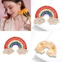 Jewelry Crystal Wedding Costume Corsage Fashion Rainbow Womens Brooch Pin Gift