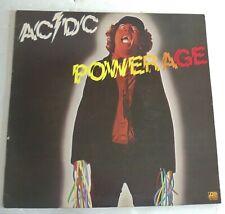 AC/DC Powerage LP Vinyl Record Atlantic SD 9180 1978 VG+ Angus Young