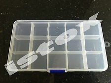 15 Compartment Storage RC Nut Bolt Jewellery Fishing Tackle Nail Art Pill box
