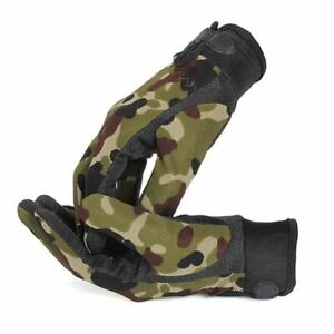 Army Military Tactical Half Finger Gloves Outdoor Motorcycle Hunting Mittens NEW