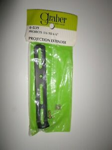 """New Sealed ! Graber *Black* 5 1/2"""" - 6 1/2"""" Cafe Rod Projection Extender Curtain"""
