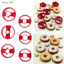 Multifunctional Linzer Cookie Cutter Cake Decor Tool Fondant Biscuit Cuttes Set