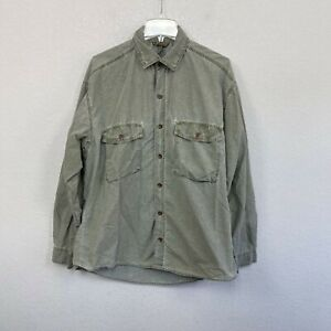 Vintage Gramicci Green Patina Dye Vented Button Up Shirt Mens Large Made in USA