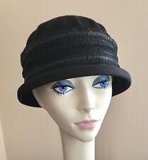 NWT! IMAGA Designer Hat BLACK $84 PACKABLE