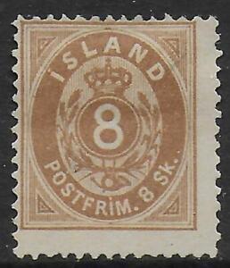 Iceland stamps 1873 MI 4 UNG VF CAT VALUE $300