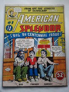 American Splendor #1 UNREAD Fine/Very Fine - 1976 R. Harvey Pekar R. Crumb