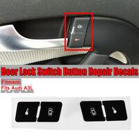 Front Central Lock Button Repair Stciker Decal para Audi A3 8L