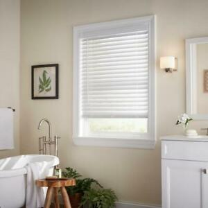 "CUSTOM CUT Sizes Home Decorators White Cordless 2"" Premium Faux Wood Blinds"