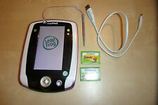 LEAP FROG LEAPPAD 2 TABLET CONSOLE + 2 GAME CARTRIDGES ART ADVENTURE SCOOBY-DOO!