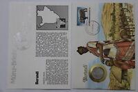 BURUNDI 5 FRANCS 1980 COIN COVER A98 - 67