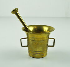 Mörser und Stößel aus Messing - Massiv - Vintage - Mortar Pestle Brass