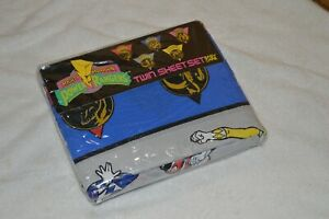 Vintage New 1994 Power Rangers Twin Sheet Set Sealed 1994 Rare Hard to find