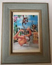 Walt Disney - King Louie - Lenticular 1960's Vintage Framed Jungle Book Postcard