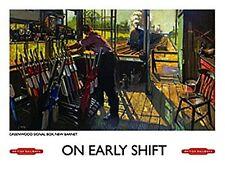 On Early Shift , Eisenbahn Großes Schild aus Stahl 400mm X 300mm (Og)