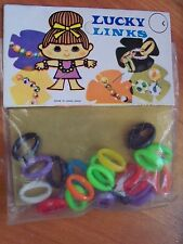 Girls Dimestore Toy Lucky Links Bracelet Kids Jewelry Kit 5 years and up NOS