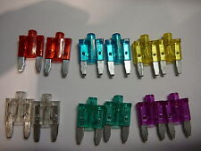 LED MINI BLADE CAR FUSES(10A/15A/20A/25A/30A/35A)2 OF EACH-(12)GLOW WHEN IT BLOW