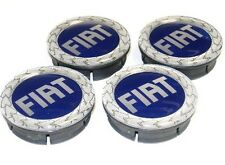 Set of four Fiat 50mm Alloy wheel centre caps 46746586 New & Genuine Fiat Punto
