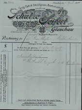 GLAUCHAU, Rechnung 1905, Essig-Fabrik u. Destillation Schulze & Seifert