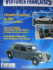 FASCICULE 76 VOITURES FRANCAISES  TRACTION 15 SIX REDELE SPECIALE FORD T