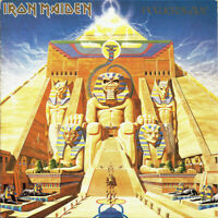 Iron Maiden - Powerslave LP Album EMI Heavy Metal Rock Vinyl Record Rare L@@K!