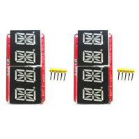 "2x1/2"" 4 bit Digital LED Display Module I2C For Arduino 14 Seg Red/Orange"