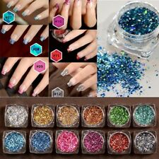 Fashion 12Colors/Set Nail Art Glitter Powder Laser Sequins Pigment Manicure Deco