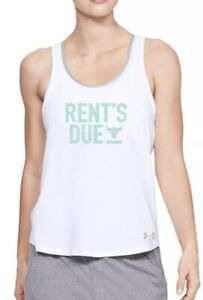 Under Armour Project Rock Rent's Due Tank Top Womens Medium Fast Ship New