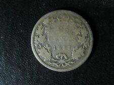 25 cents 1887 Canada Queen Victoria silver coin 25c 25¢ quarter G-4