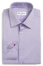 New Robert Graham Chandler Purple Dot Dress Shirt Size 16 41 100% Cotton