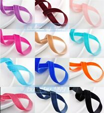 10Yards 3/8'' Width Trim Velvet Ribbons Sewing Fabric 25 Colors Wedding
