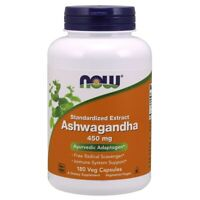 Now Foods ASHWAGANDHA EXT 450MG 180 VCAPS Made in USA FREE SHIPPING