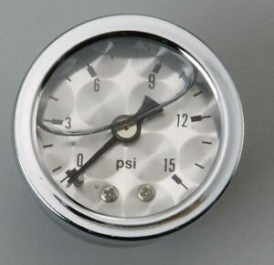 """Russell Analog Mechanical Fuel Pressure Gauge 1 1/2"""" Dia Machine Face 650390"""