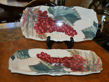 """2 13.2""""x6"""" CIC Certified International Italy Rettangolo Grapes Serving Dish"""