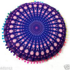 Indian Mandala Print Round Sofe Pillow Cases Bohemian Throw Waist Cushion Cover