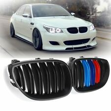 Front Matte Black M-Color Kidney Grill Grille For BMW E60 E61 5 SERIES 03-10 UK