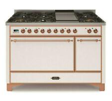 """Ilve Umc120Fdmpbr 48"""" Dual Fuel Gas Range Double Oven Copper Trim Reduced Price"""
