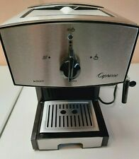 Capresso Espresso Cappuccino Maker with built in Frother Black and Silver